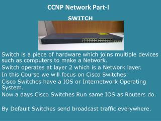CCNP Network Part-I