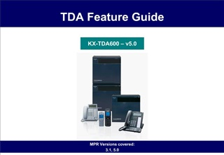 TDA Feature Guide