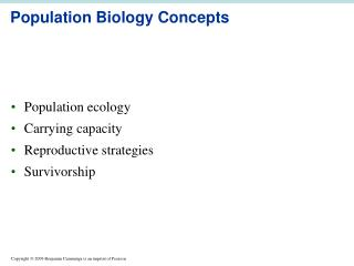 Population Biology Concepts