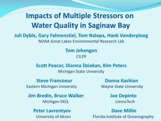 Impacts of Multiple Stressors on  Water Quality in Saginaw Bay