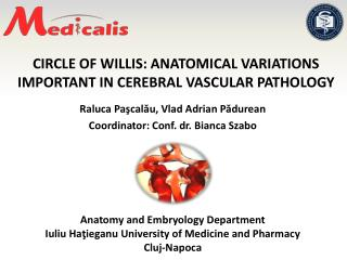 CIRCLE OF WILLIS: ANATOMICAL VARIATIONS IMPORTANT IN CEREBRAL VASCULAR  PATHOLOGY