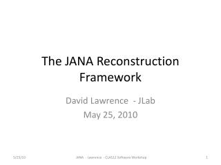 The JANA Reconstruction Framework