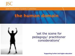 the human domain