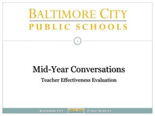 Mid-Year Conversations Teacher Effectiveness Evaluation
