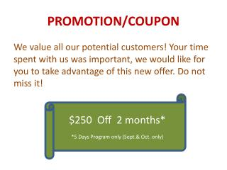 PROMOTION/COUPON