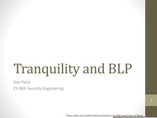 Tranquility and BLP