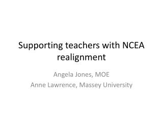 Supporting teachers with NCEA realignment