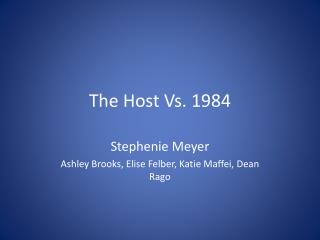 The Host Vs. 1984