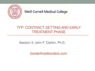 Tfp : contract setting and early treatment phase borderlinedisorders.com