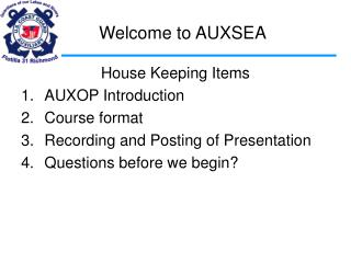 Welcome to AUXSEA