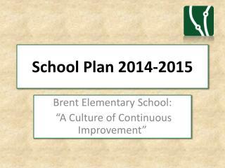 School Plan 2014-2015