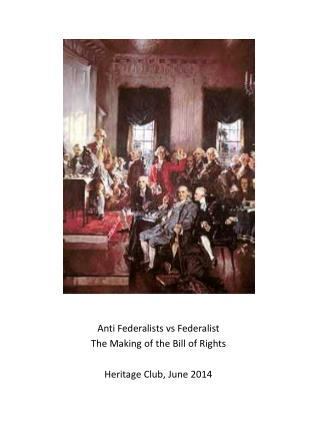 The  Federalists vs. the Antifederalists