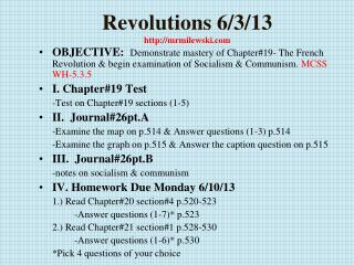 Revolutions 6/3/13 http://mrmilewski.com