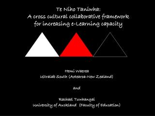 Te Niho Taniwha:  A cross cultural collaborative framework  for increasing e-Learning capacity