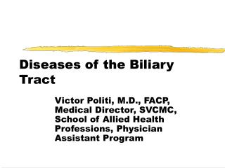 Diseases of the Biliary Tract