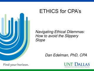 ETHICS for CPA's