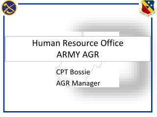 Human Resource  Office ARMY AGR
