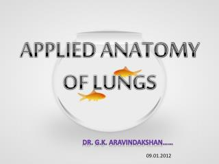 APPLIED ANATOMY OF LUNGS