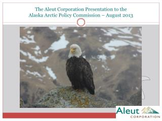 The Aleut Corporation Presentation to the Alaska Arctic Policy  Commission – August 2013