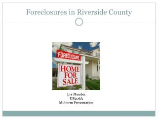 Foreclosures in Riverside County