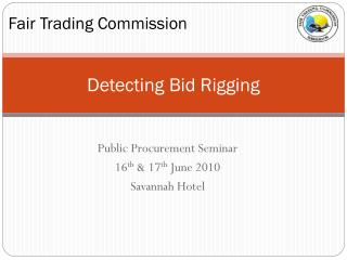 Detecting Bid Rigging