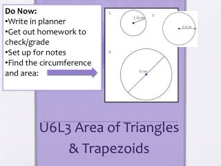 U6L3 Area of Triangles & Trapezoids