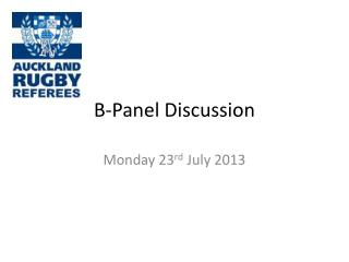 B-Panel Discussion