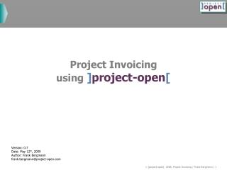 Project Invoicing using ] project-open [