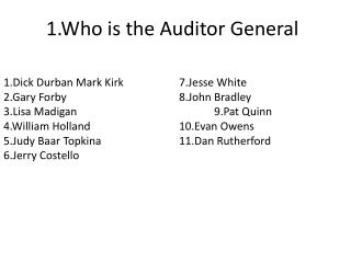 1.Who is the Auditor General