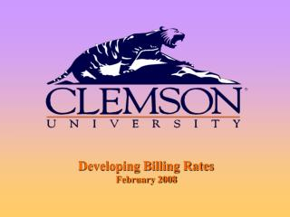 Developing Billing Rates  February 2008