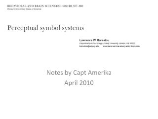 Notes by Capt  Amerika April 2010