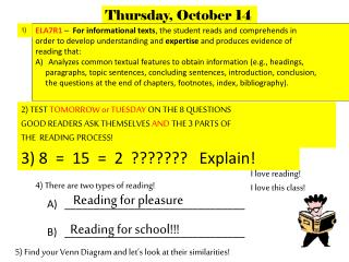 4) There are two types of reading!