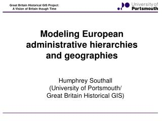 Modeling European administrative hierarchies and geographies