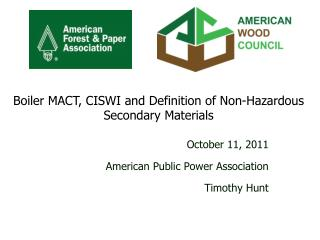 October 11, 2011 American Public Power Association Timothy Hunt