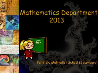 Mathematics Department  2013