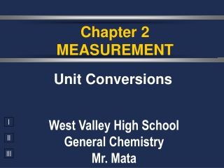 Chapter 2 MEASUREMENT