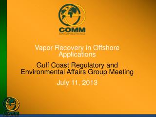 Vapor Recovery in Offshore  Applications