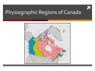 Physiographic Regions of Canada