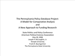 The Pennsylvania Policy Database Project: A Model for Comparative Analysis and A New Approach to Funding Research