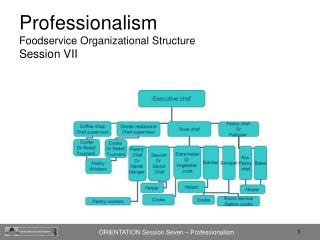 Professionalism  Foodservice Organizational Structure Session VII