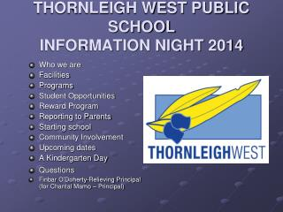 THORNLEIGH WEST PUBLIC SCHOOL INFORMATION NIGHT  2014