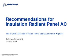 Recommendations for Insulation Radiant Panel AC