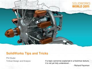SolidWorks Tips and Tricks