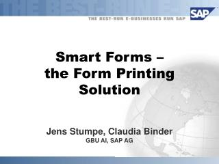 Smart Forms –  the Form Printing Solution
