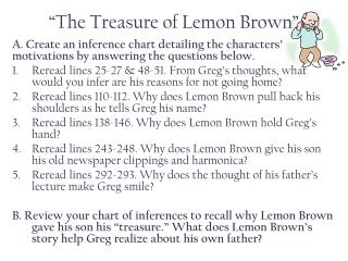 """The Treasure of Lemon Brown"""