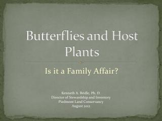 Butterflies and Host Plants