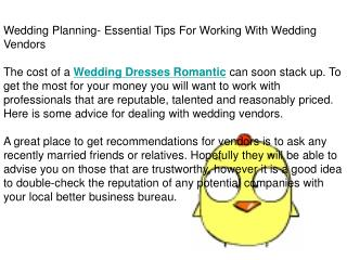 Wedding Planning- Essential Tips For Working With Wedding Ve