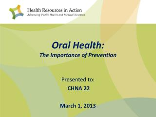 Oral Health: The Importance of Prevention