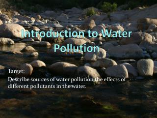 Introduction to Water Pollution