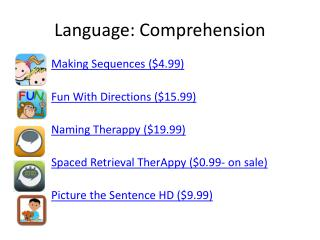 Language: Comprehension